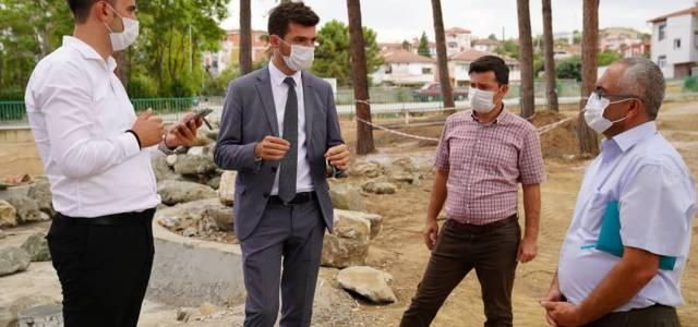 Başkan Karagöl, Çamlık Koru Park'taki çalışmaları inceledi