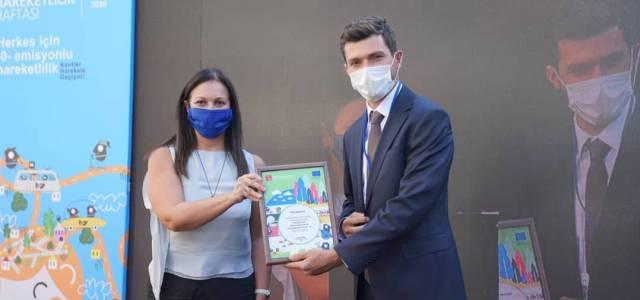 Erbaa Belediyesi Çevre Dostu Kent Erbaa projesiyle ödül aldı