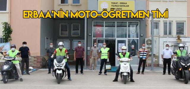 Erbaa'nın moto-öğretmen timi