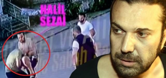 Yumruk atmış! Halil Sezai'nin gözaltına alındığı kavga kamerada