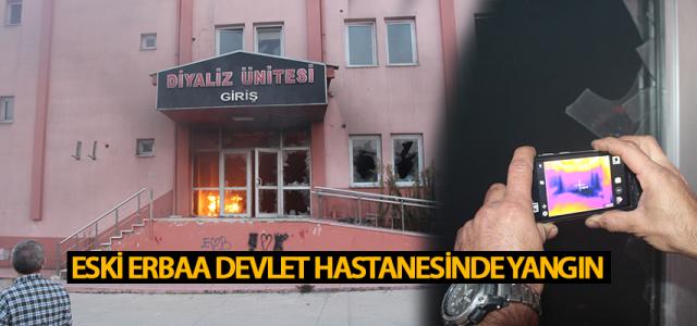 Eski Erbaa Devlet Hastanesi binasında çıkan yangın büyümeden söndürüldü