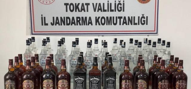 102 litre kaçak içki ele geçirildi