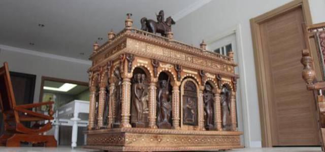 Erbaa'da Çeyiz sandığını, sanat eserine dönüştürdü