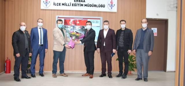 Okul aile birliği İlçe Milli Eğitim Müdürü Aslan'ı ziyaret etti