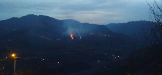 Erbaa'da örtü yangını