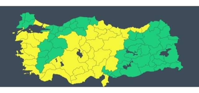 Meteoroloji'den 32 il için sarı kodlu uyarı! Kuvvetli sağanak geliyor