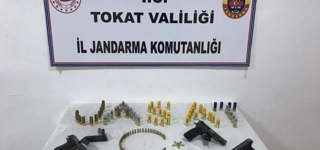 Erbaa'da silah kaçakçılığı operasyonu
