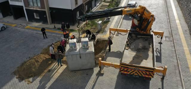 Erbaa'da yeraltı çöp konteyneri yaygınlaşıyor.