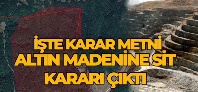 Erbaa'daki altın madeni alanı SİT ilan edildi.