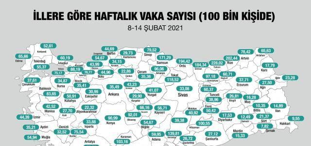 Vaka sayısına göre kısıtlamalar kalkacak! Peki Tokat'ta durum ne?