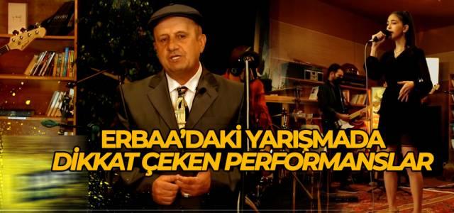 Erbaa'daki ses yarışmasında yarışmacılar performanslarını sergiledi