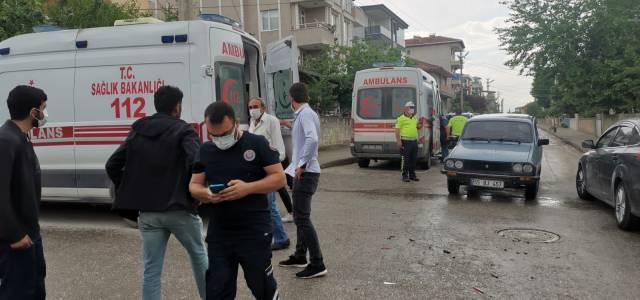 Erbaa'da kaza 2 yaralı
