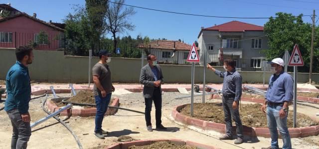 Erbaa'da okul bahçesine trafik eğitim pisti kuruluyor