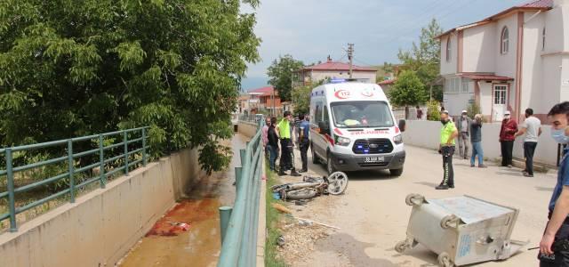 Erbaa'da feci kaza motorsiklet sürücüsü hayatını kaybetti