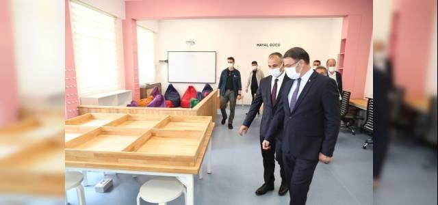 Vali Balcı, okul inşaatlarını denetledi