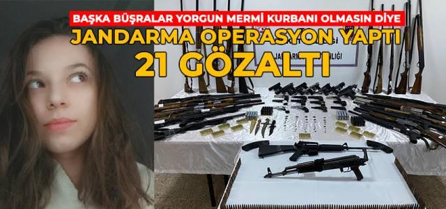 Yorgun mermi kurbanı Büşra'nın soyadıyla operasyon: 21 gözaltı
