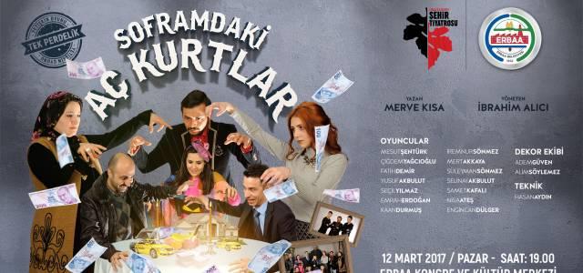 Erbaa Belediyesi Şehir Tiyatrosunda ilk oyun heyecanı