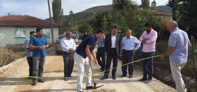 Erbaa'daki köy yollarında asfalt çalışmaları