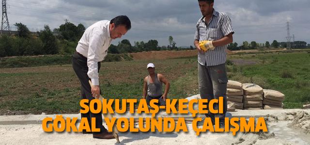 Erbaa'daki köy yollarında yenileme çalışması
