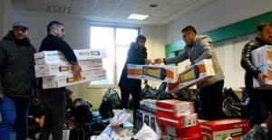 Erbaa'da Elazığ depremi için yardım kampanyası