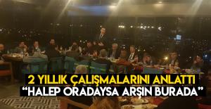 "Esnaf Odası Başkanı Koral ""Halep oradaysa Arşın burada"""
