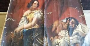 Niksar'da tarihi eser olduğu değerlendirilen tablo ele geçirildi