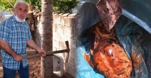 Tokat'ta ilginç olay: Fide dikmek istediği bahçesinde 'el bombası' buldu