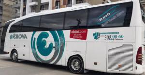 Erbaa'da otobüs firmasından koronavirüs önlemi