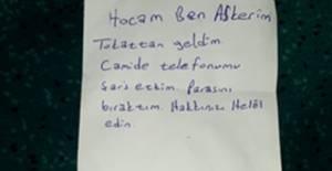"""Tokatlı asker not bıraktı: """"helallik"""" isteği görenleri duygulandırdı"""
