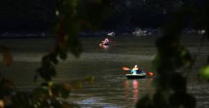 Doğa harikası Düden Gölü'nde kamp etkinliği