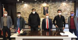 Erbaaspor Başkanı Ünal basın mensuplarıyla bulustu