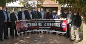 Tokat'ta, Memur-Sen'den Fransa protestosu