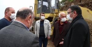 Vali Balcı, köy grup yollarında incelemede bulundu