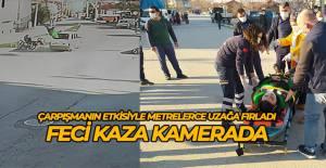Erbaa'daki feci kaza kameralara yansıdı