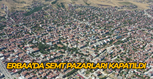 Erbaa'da semt pazarları kapatıldı