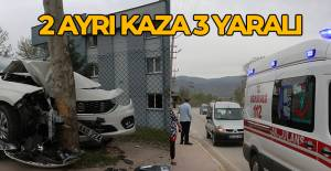 Erbaa'da iki ayrı kazada 3 yaralı