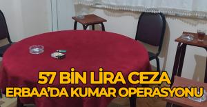Erbaa'da tütüncü dükkanında kumara 57 bin 988 lira ceza