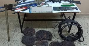 Tokat'tan Kastamonu'ya gidip kablo çaldılar