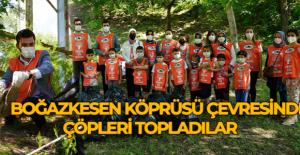 Başkan Karagöl TEMA gönüllüsü çocuklarla beraber çöp topladı