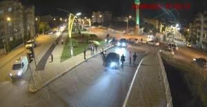 Tokat'ta kazalar KGYS kameralarına yansıdı