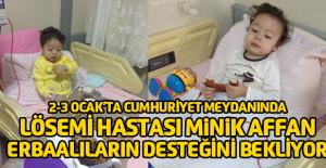 Lösemi hastası Affan için kampanya