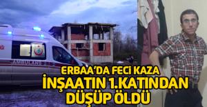Erbaa'da Çalıştığı inşaattan düşen işçi öldü