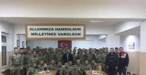Erbaa Kaymakamından askere yeni yıl ziyareti