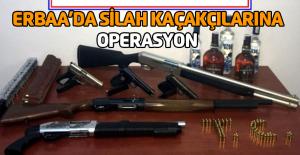 Erbaa'da silah kaçakçılarına operasyon