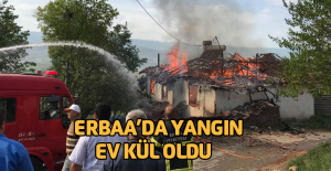 Erbaa'da yangın