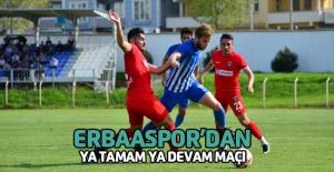 Erbaaspor Kemerspor maçına hazırlanıyor