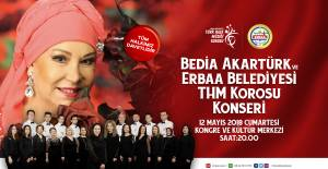 Bedia Akartürk Erbaa'da konser verecek