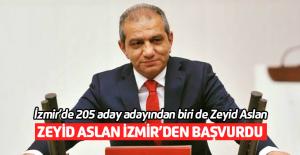 Zeyid Aslan İzmir'den aday adayı oldu