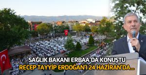 Sağlık Bakanı Demircan, Erbaa'da 7 bin kişilik iftara katıldı
