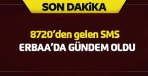 Erbaa'da gündeme oturan SMS